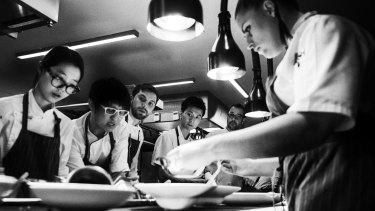 Martin Benn in his kitchen at Sepia Restaurant on Sussex St Sydney.