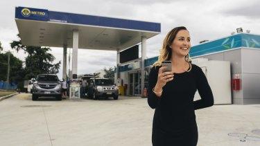 Go2 Rewards marketing manager Katey Johnstone at Metro Petroleum petrol station in Fyshwick.