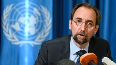 UN High Commissioner for Human Rights, Zeid Ra'ad al-Hussein.