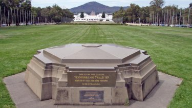 Canberra's Foundation Stone is one of several national monuments crafted by stonemasons from rock quarried at Mt Gibraltar, Bowral.