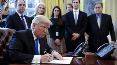 US President Donald Trump signed an order to allow the pipeline to proceed.