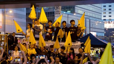 The 2014 Umbrella Movement occupied the streets of Hong Kong.