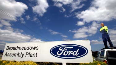 """Symbol: Ford worker Stuart Harris at the Broadmeadows plant: """"I've been proud to be a part of it."""""""