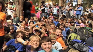 Homesickness and gastro the biggest ailments: Children at the last Cuboree camp at Gilwell Park, near Gembrook, in 2014.