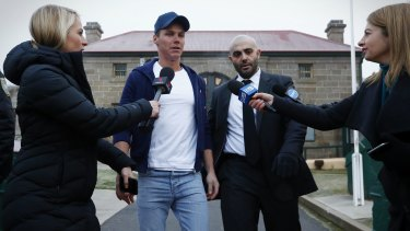 Oliver Curtis did not make an statement on his release.