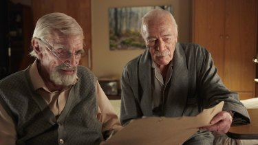 Martin Landau and Christopher Plummer in Remember.