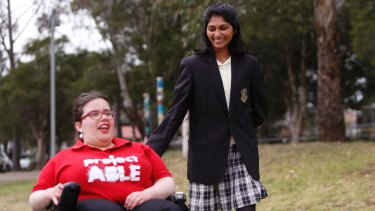 Girraween High School student Grace Vegesana talks to Olivia Princi from ProjectABLE.