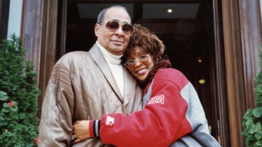 Whitney Houston with her father John.