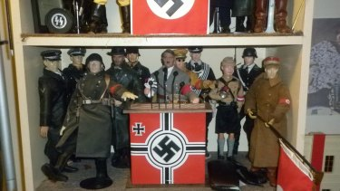A collection of Nazi dolls owned by Nathan Sykes.