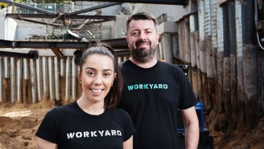 Siblings Alexandra and Nic De Bonis are the founders of Workyard, an app aimed at the construction industry.