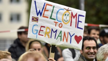 Many people across Germany have supported the nation's humanitarian action to welcome refugees.