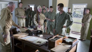 A scene from Mel Gibson's war drama <i>Hacksaw Ridge</i>, which stars Andrew Garfield and Vince Vaughn.