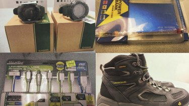 Solar watches, hiking boots and chargers bound for Islamic State.