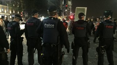 Police were out in force on Saturday night to prevent a repeat of last year's Moomba riots.