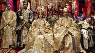 <i>The curse of the golden flower</i>, a film directed by Zhang Yimou.