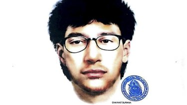 A sketch of the main suspect in the deadly Bangkok blast, released by the Royal Thai police on August 19.