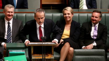 Opposition Leader Bill Shorten delivers his budget reply speech.