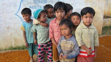 Australian aid money built a water tank to this remote village in the opium-growing region of Shan State, Burma, in the mid-1990s. The villagers have rarely seen foreigners since then.