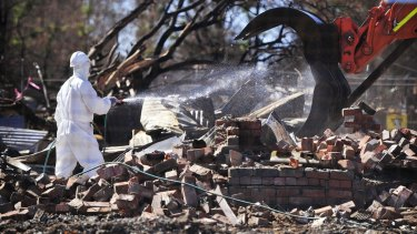 The clean-up in Yarloop is underway.