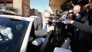 Former ATO deputy commissioner Michael Cranston leaves court last month.