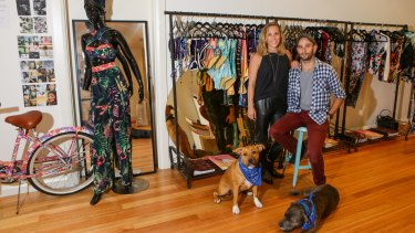 Staying put: Jeremy and Katinka Somers' Australian swimwear business We Are Handsome needs to stay near central Sydney.