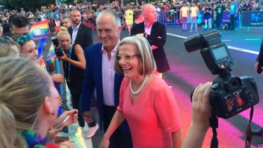Malcolm Turnbull, with wife Lucy, became the first sitting prime minister to attend Mardi Gras last year.