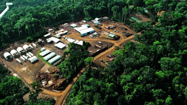 The Mbalam Camp iron ore project in the Congo. Sundance is seeking to restructure its finances to keep its African project alive.