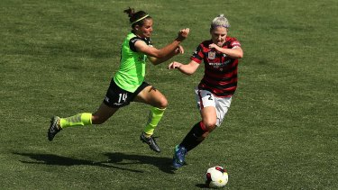 Canberra acting-captain Ashleigh Sykes was dangerous up front, but it wasn't enough as United blow a chance to claim top spot.