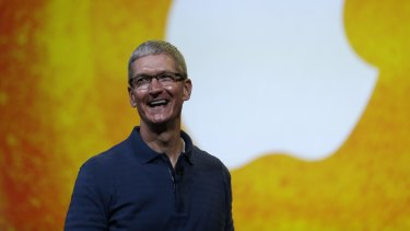 Apple executives led by Tim Cook believe the tech company is on track to record its biggest ever annual profit.