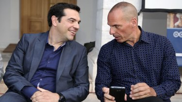 Varoufakis speaks with Greece's new Prime Minister Alexis Tsipras.
