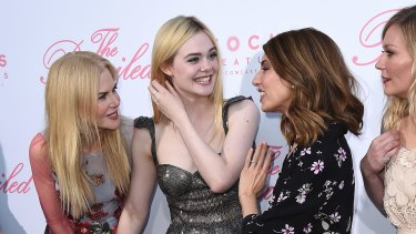 At the premiere of The Beguiled - (from left) Nicole Kidman, Elle Fanning, Sofia Coppola and Kirsten Dunst.
