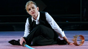 A tour de force: Kate Mulvany clutches fast the keys to Richard's character, including the limbs twisted in deformity.