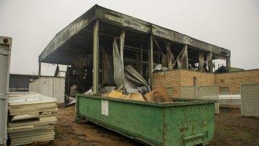 Pialligo Estate's smokehouse was badly damaged.