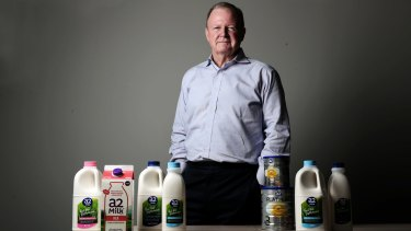 a2 Milk Company chief executive Geoff Babidge expects infant formula will soon make up more than 60 per cent of the company's overall revenue.