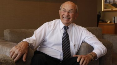 The 94-year-old Stan Perron is the oldest member of the BRW Rich List. He bought a half stake in Westfield Woden last year for $335 million.