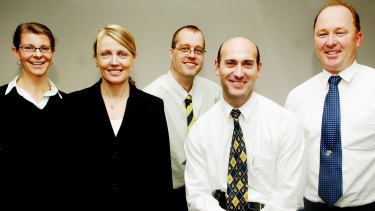 Ashley Bryant (second from right) when the Unsolved Homicide Team was formed in 2004.