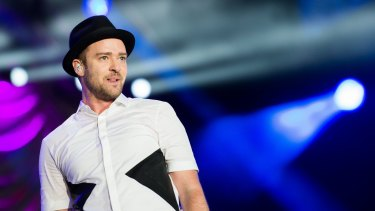 Justin Timberlake performs on stage at the Rock in Rio Festival in September 2013.