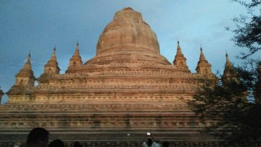 A temple without a spire in Bagan, Myanmar.