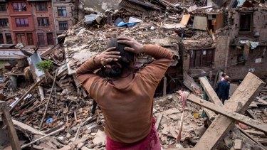 The devastation in Bhaktapur.