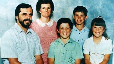 The De Gruchy family, from left, Wayne, Jennifer, Adrian, Matthew and  Sarah.