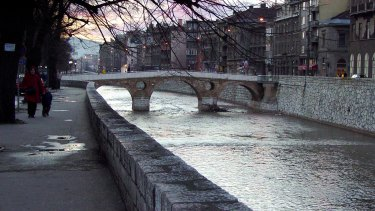 The streets of Sarajevo.
