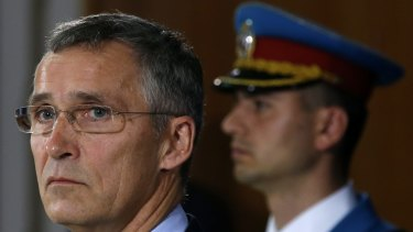NATO Secretary General Jens Stoltenberg, left, will lead an emergency meeting in Brussels overnight following the downing of a Russian fighter jet by the Turkish Air Force.