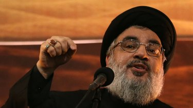 Stretched: Hezbollah leader  Hassan Nasrallah is sending fighters to Syria to back up the army of President Bashar al-Assad as well as fending off Sunni Islamist militants in Lebanon's north.