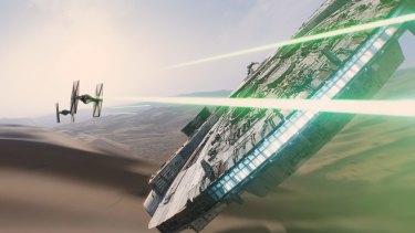 Familar battles: <i>Star Wars: The Force Awakens</i>.
