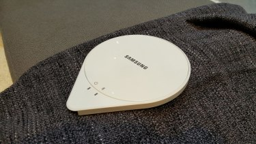 The Sleep Sense sensor, about the size of small tablet, slips under your mattress.