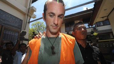 David Taylor arriving at Denpasar District Court on Tuesday.