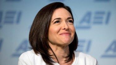 Facebook's Sheryl Sandberg encourages women to lean in.