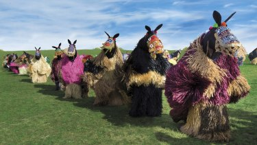 Nick Cave's HEARD.SYD features 60 performers parading in horse suits at three city venues.