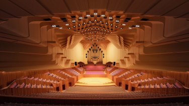 An artist's impression of the revamped Concert Hall at the Opera House.