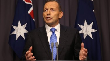 Tony Abbott faced a leadership showdown at Parliament House on Monday night.